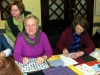 Making the Parish Lenten Shawl for Easter Altar 2013