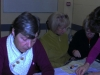 Making the Parish Lenten Shawl for Easter Altar 2013